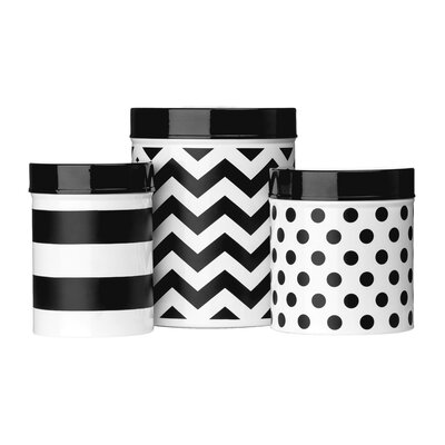 All Home Domino 3-Piece Canister Set