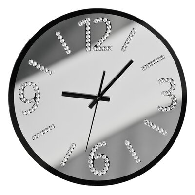 All Home 35cm Glass Wall Clock