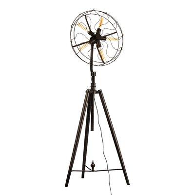 All Home Vintage Fan 173cm Tripod Floor Lamp