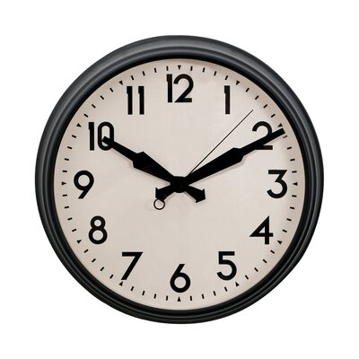 All Home 36cm Numbers Wall Clock