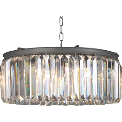All Home Art Deco Crystal Chandelier