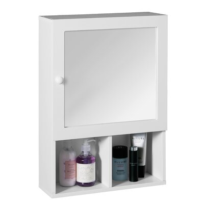 All Home 40cm x 56cm Surface Mount Mirror Cabinet
