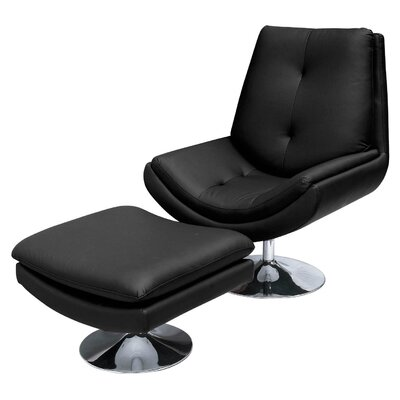 All Home Genoa Lounge Chair and Footstool