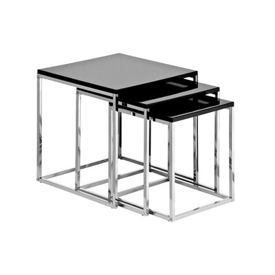 All Home 3 Piece Nest of Tables in Chrome