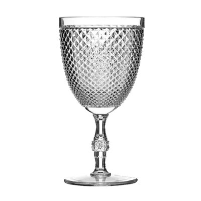 All Home Plastic Clear Diamond Wine Glass