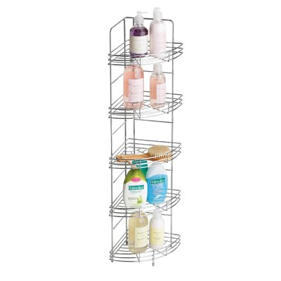 All Home Metal Free Standing Shower Caddy
