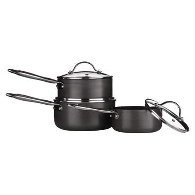 All Home Tenzo H Series 3- Piece Aluminium Saucepan Set with Lids