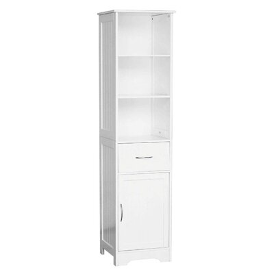 All Home 40 x 160cm Free Standing Tall Bathroom Cabinet