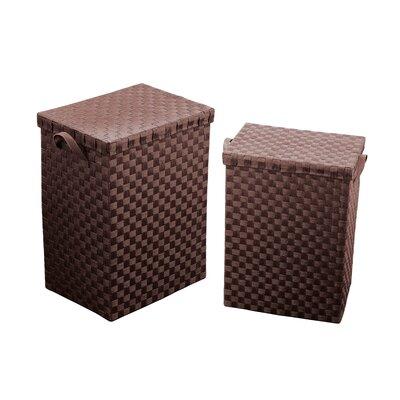 All Home 2 Piece Laundry Basket Set