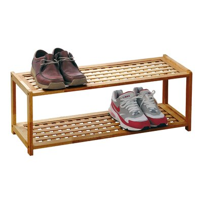 All Home Walnut Shoe Rack