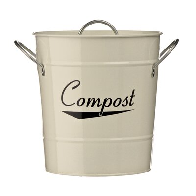 All Home Powder Coated Compost Bin with Handles