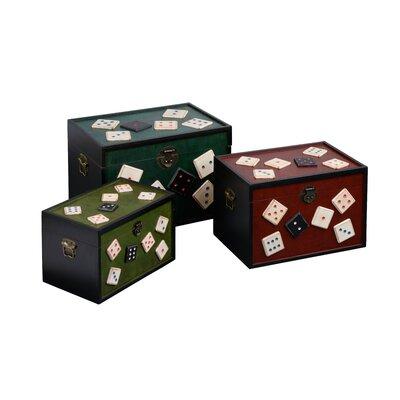 All Home Dice Storage Trunks 3 Piece Set