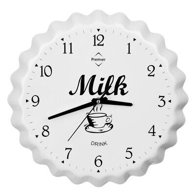 All Home 39cm Milk Bottle Cap Wall Clock