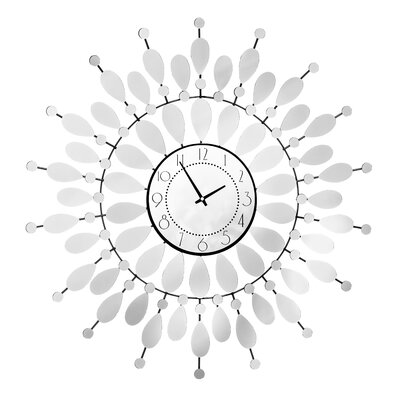 All Home Oversized 68cm Mirrored Petal Wall Clock