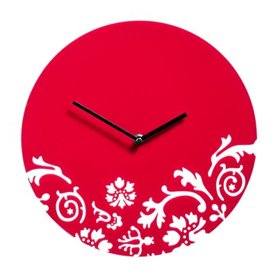 All Home 30cm Floral Swirl Wall Clock