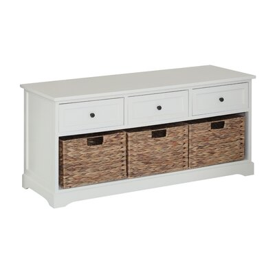 All Home Wood Storage Entryway Bench