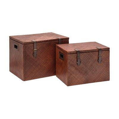 All Home Pandanus 2 Piece Blanket Box Set