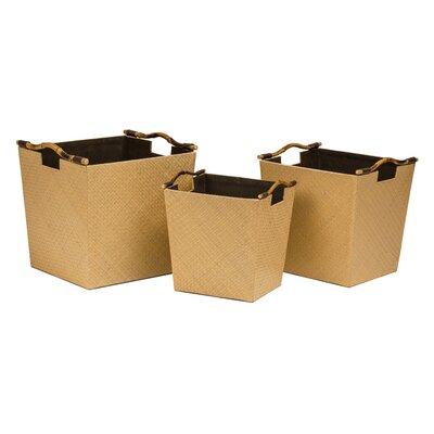 All Home 3 Piece Tapered Storage Basket Set