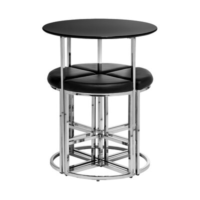 All Home 5 Piece Bar Table Set