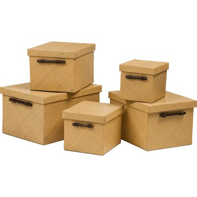 All Home 5 Piece Storage Box Set