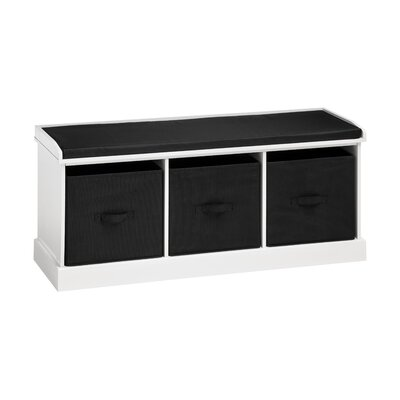 All Home Wood Storage Bedroom Bench