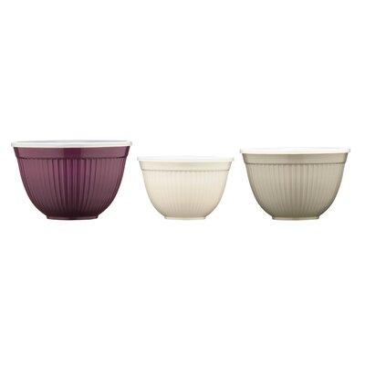 All Home 3 Piece Melamine Storage Bowl Set