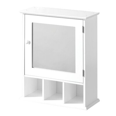 All Home 46cm x 58cm Surface Mount Mirror Cabinet