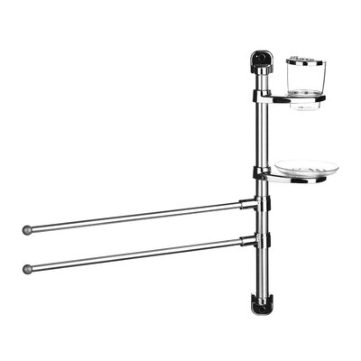 All Home 52cm Wall Mounted Double Towel Rail