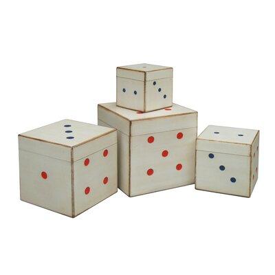 All Home 4 Piece Dice Storage Trunk Set