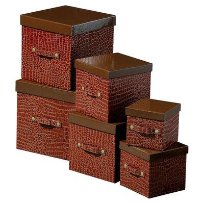 All Home Mock Croc 6 Piece Storage Box Set