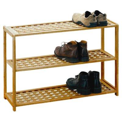 All Home 3 Tier Shoe Rack