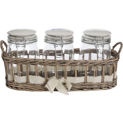 All Home 3-Piece Storage Jars