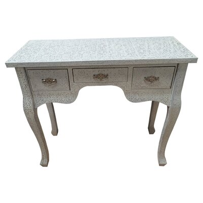 All Home Decorative Furniture Repousse 3 Drawer Dressing Table
