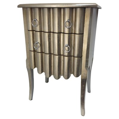 All Home Decorative 2 Drawer Nightstand