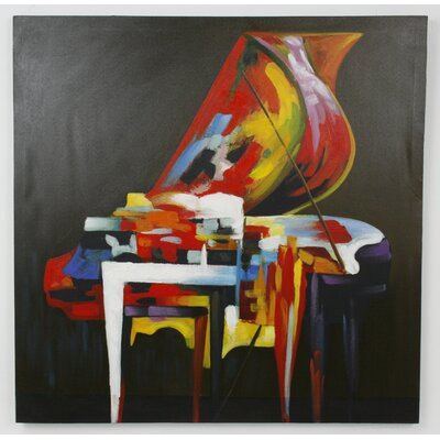 All Home Piano Picture Art Print on Canvas