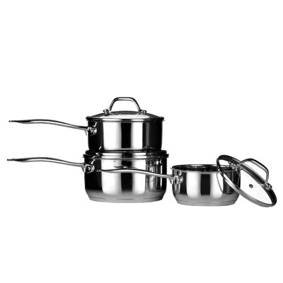 All Home 3-Piece Cookware Set with Lids