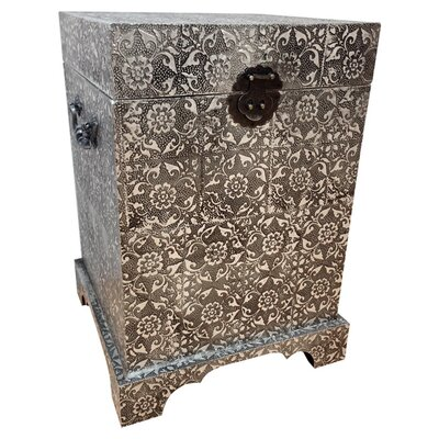 All Home Loyalty Wood and Metal Blanket Box