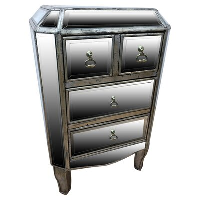 All Home Line 4 Drawer Bedside Table