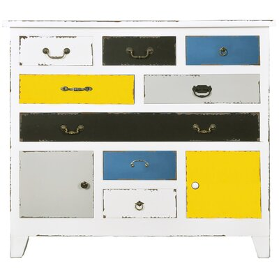 All Home JabalBilAys 2 Door 8 Drawer Sideboard