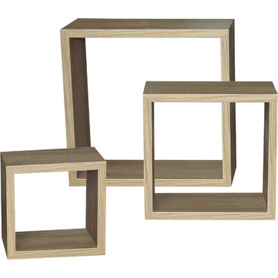 All Home Toaca Oak 3 Piece Accent Shelf Unit
