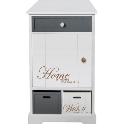 All Home Home 3 Drawer Nightstand