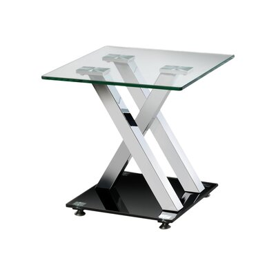 All Home X-Frame Side Table