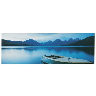 All Home Boat on Lake Photographic Print on Canvas