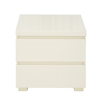 All Home Cannes Night Stand with 2 Drawers