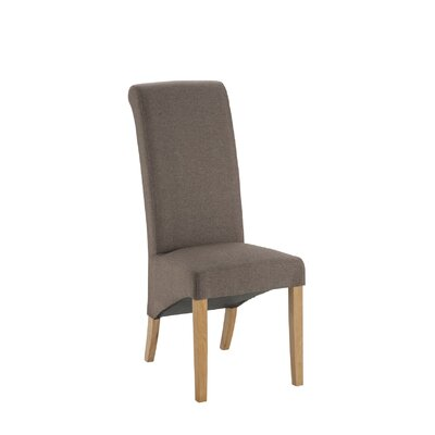 All Home Manchester Solid Oak Upholstered Dining Chair