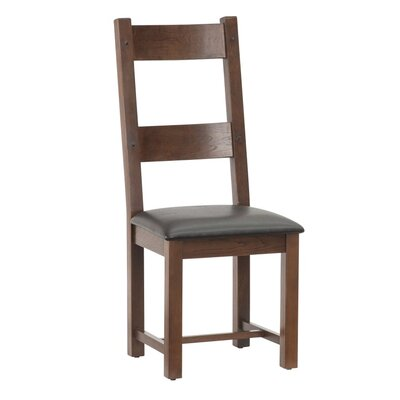 All Home Harvard Solid Oak Upholstered Dining Chair