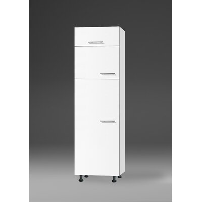All Home Merida 210 cm Tall Unit for integrated Fridge-/Freezer-combination