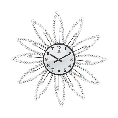 All Home 50cm Diamante Wall Clock