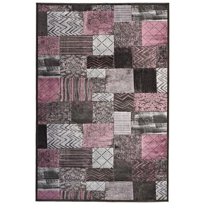 All Home Farrow Grey/Pink Area Rug