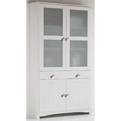All Home Paisley 2 Glass Door 2 Drawer Cabinet